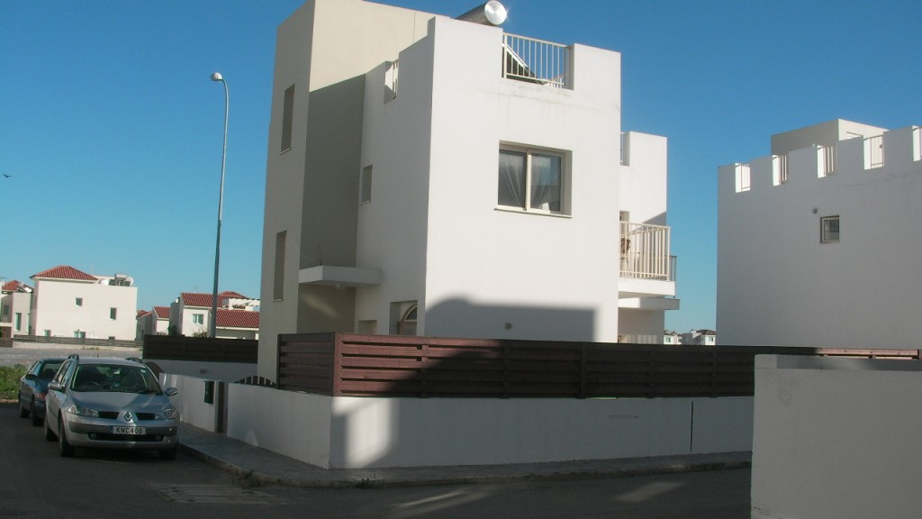 External view of the 3 bedroom villa at Ayia Triada between Protaras and Kapparis